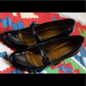 J. Crew black patent heels 👠
